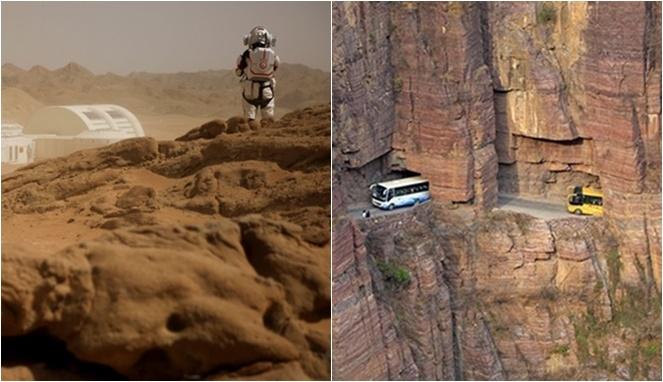 Destinasi Aneh,Mars Tiruan Sampai Gunung Melayang