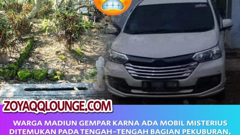 Mobil Nyasar Ditengah Kuburan Di Madiun