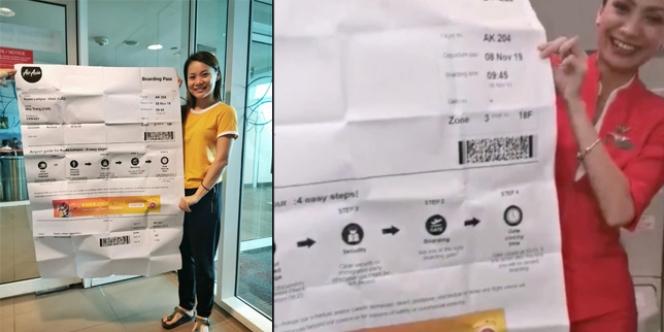 Boarding Pass Raksasa, Gadis di Bandara Ini Jadi Viral