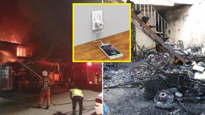Aksesories HP Palsu Meledak, 3 Rumah Terbakar