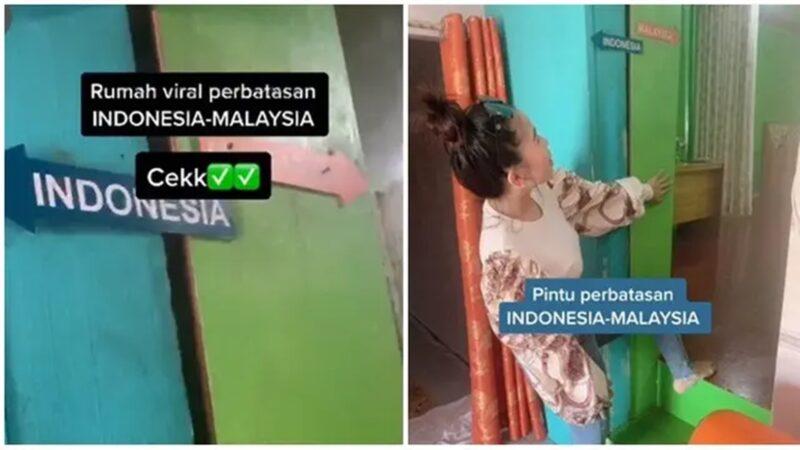 Viral Rumah Unik di Perbatasan Indonesia dan Malaysia
