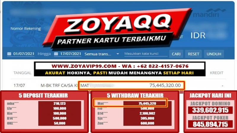 Super Win Hoki Akurat Meja Genap Hari Ini Di ZoyaQQ !