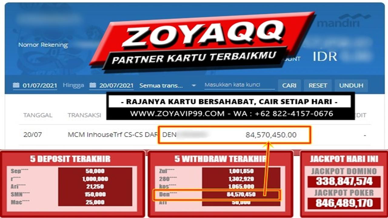 Raih Banjir Rezeki Hoki WD Besar Di ZoyaQQ Segera !